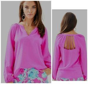 """Small silk Lilly Pulitzer blouse """" leslie"""""""